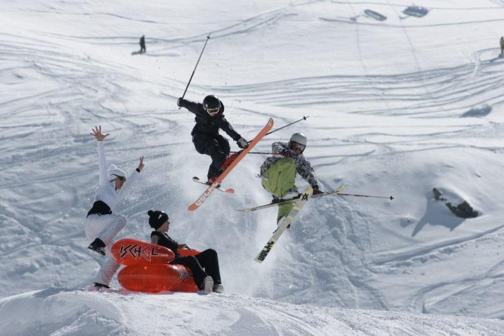 Freestyle-Spaß im Snowpark von Ischgl.