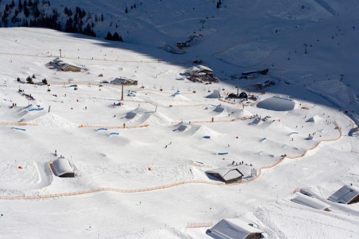 Setup des Penken Parks im Skigebiet Mayrhofen.