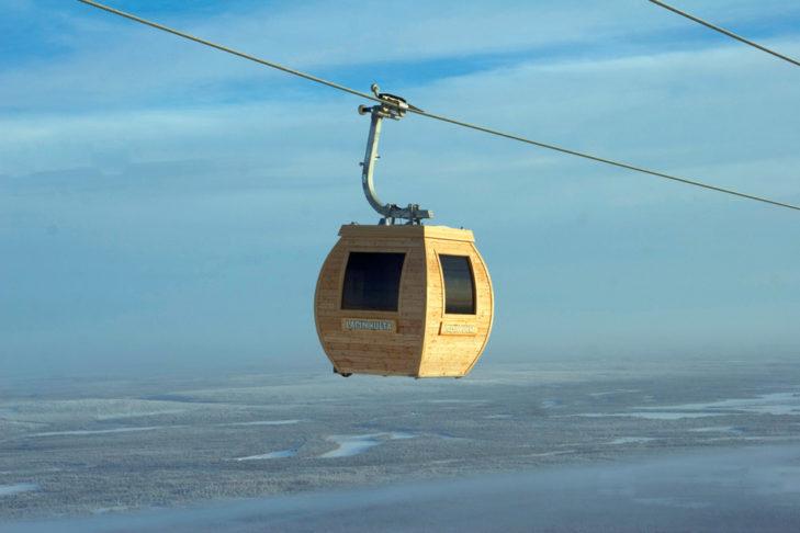 Außergewöhnliche Skilifte: Saunagondel