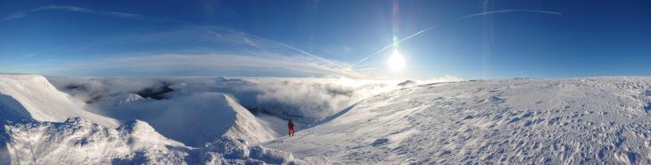 Im Skigebiet Nevis Range fährt man auf dem höchsten Berg Schottlands.