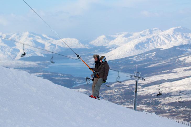 Das Skigebiet Nevis Range liegt am höchsten Berg Schottlands.