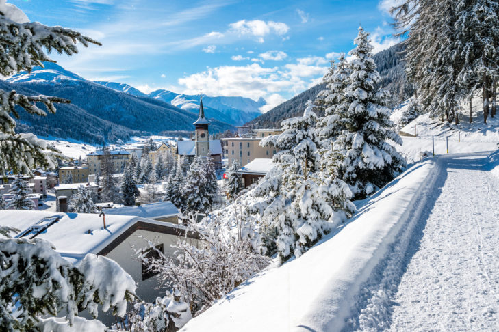 Blick über das schöne Davos.