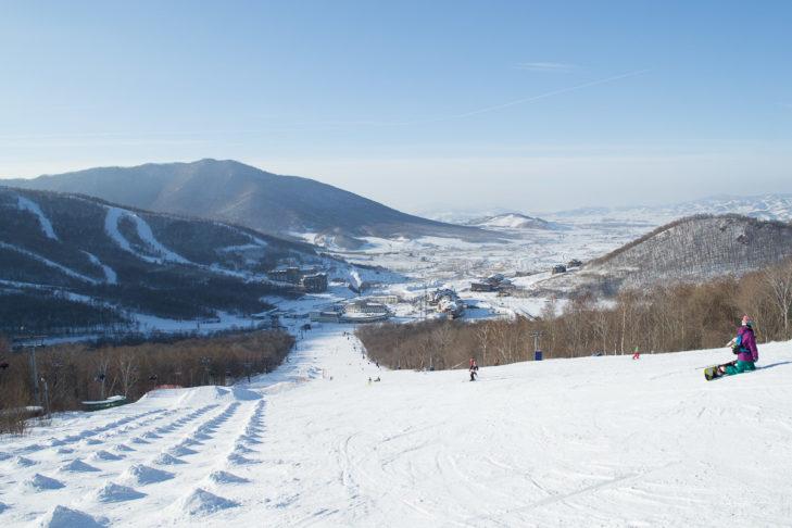 Toller Blick beim Skifahren in China.