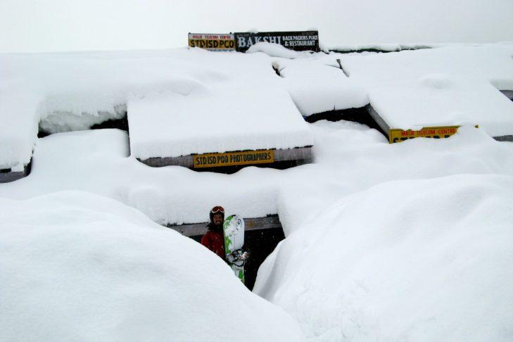 Schnee ist im Skigebiet Gulmarg garantiert!