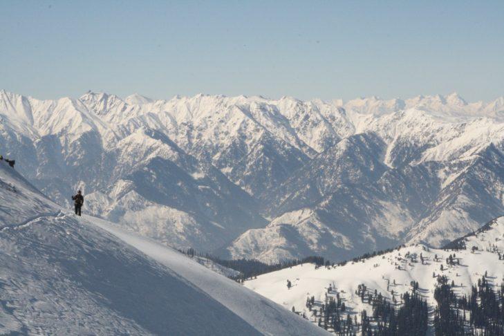 Faszinierende Schneelandschaft in Indien.