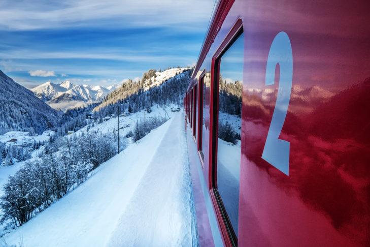 Mit dem Zug in die Alpen zu fahren, ist an sich schon ein Erlebnis.