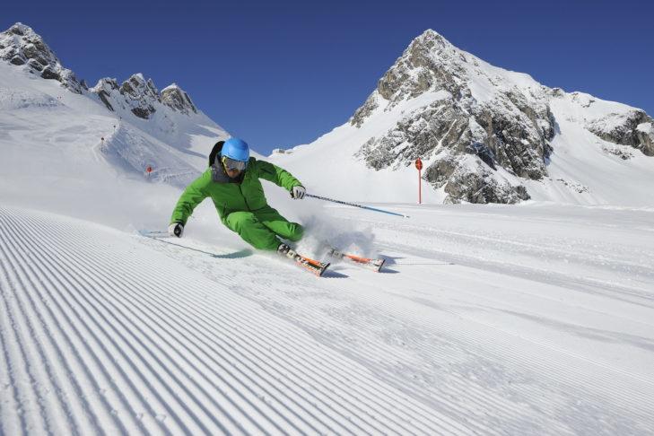 """Mit 85 Pistenkilometern ist der """"Run of Fame"""" am Arlberg die längste Skirunde der Alpen."""