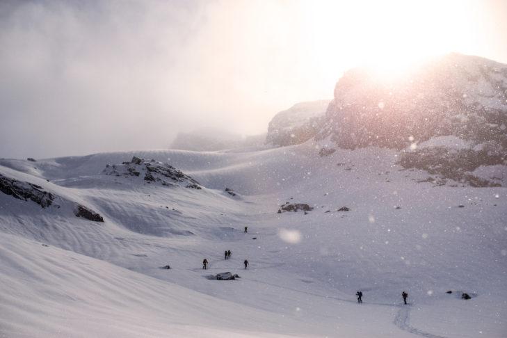 Glitzerndes Weiß in Grönland.