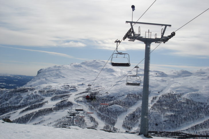 In Norwegen ist Schnee garantiert während der Wintermonate.