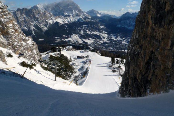 Cortina d'Ampezzo: Atemberaubender Blick ins Tal.
