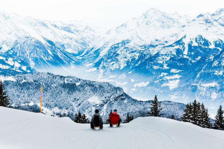 In den Alpen zu rodeln ist ein ganz besonderes Erlebnis.