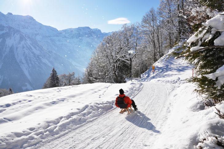 In der Schweiz finden Rodler ebenfalls ihren Spaß.