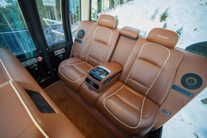 Gondel von innen: BMW Individual for Leitner