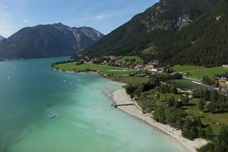 Mauracher Badestrand am Achensee