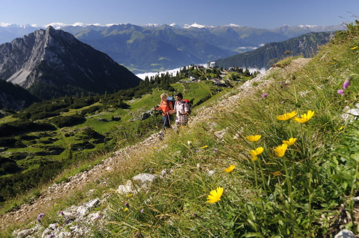 Bergwandern im Rofangebirge, Tirol, Österreich