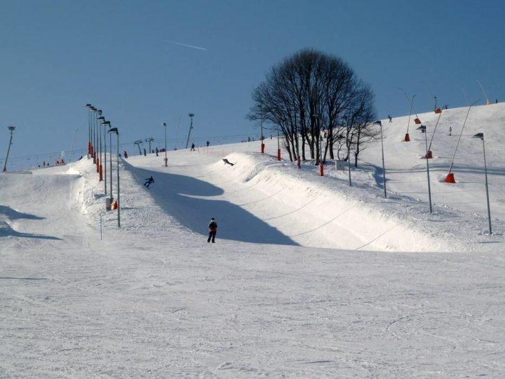 Halfpipe im Snowpark Oberwiesenthal.
