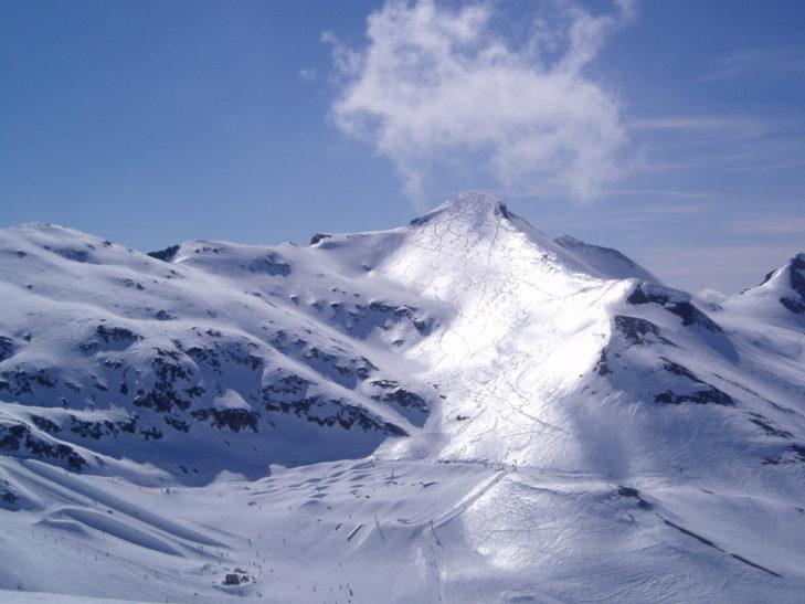 Auf der Sonnenseite in Les 2 Alpes.