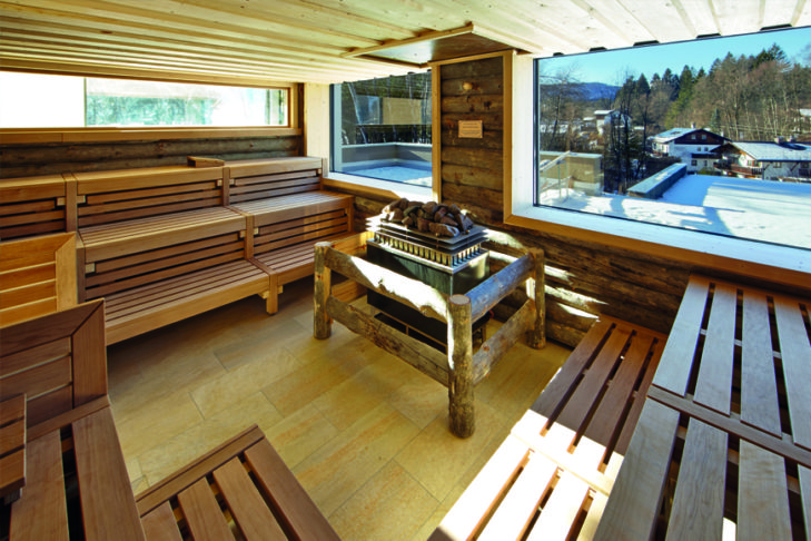 Eine Sauna gehört vielerorts zum Camping-Standard.