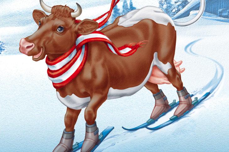 Maskottchen-Kuh Lofi.