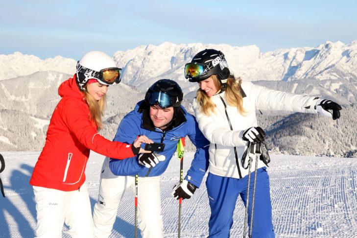 Pistencheck via Ski-App - und das mitten im Skigebiet.