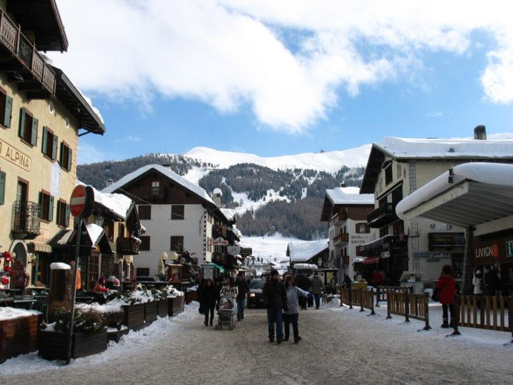 Einkaufsstraße in Livigno