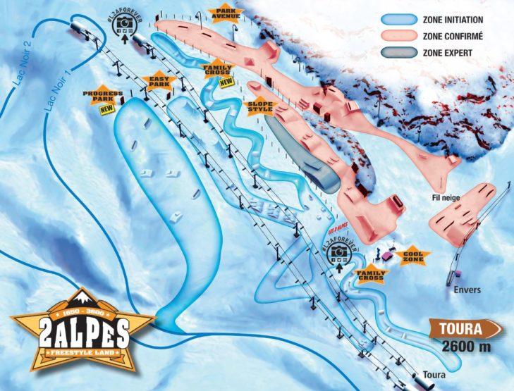 Les 2 Alpes Plan Freestyle Land