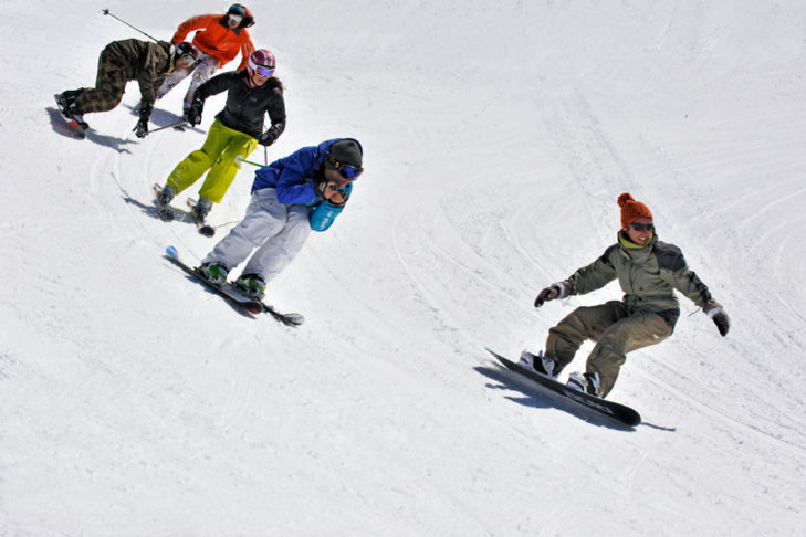 Boardercross und Skicross in Les Menuires.