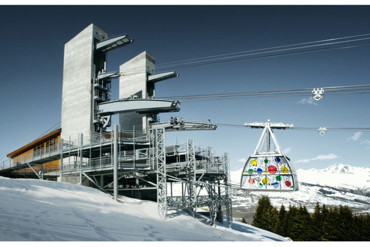 Der Vanoise Express in den französischen Alpen ist die größte und schnellste doppelstöckige Luftseilbahn der Welt.