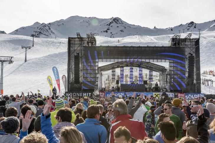 Das Electric Mountain Finale in Sölden.