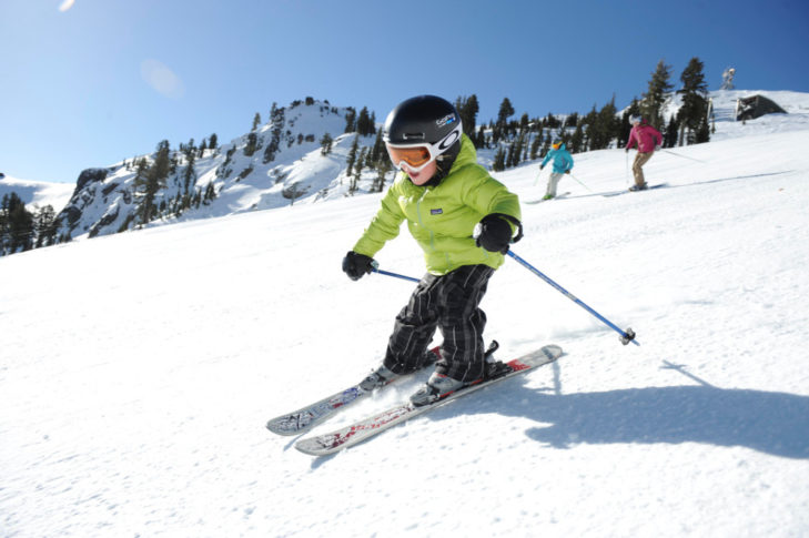Kinderski in Alpine Meadows USA Lake Tahoe