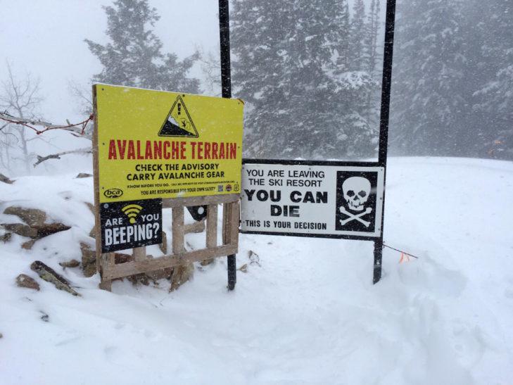 Ski Area Boundaries in Canyons
