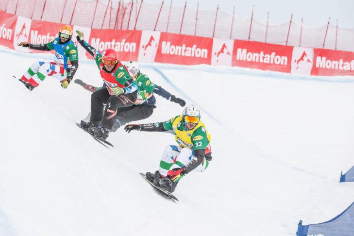 Ein Weltcup der Snowboarder findet in Montafon statt.