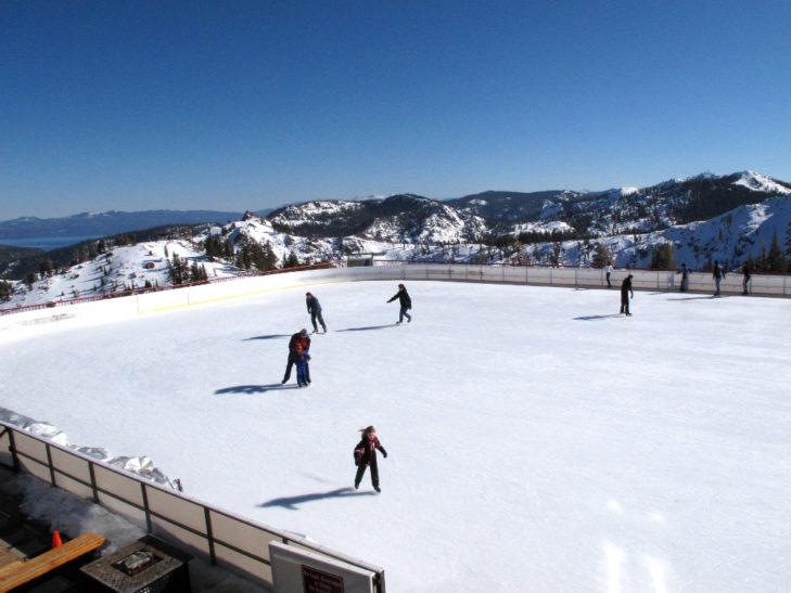 Eislaufen in Squaw Valley USA Lake Tahoe © Ben Davidson