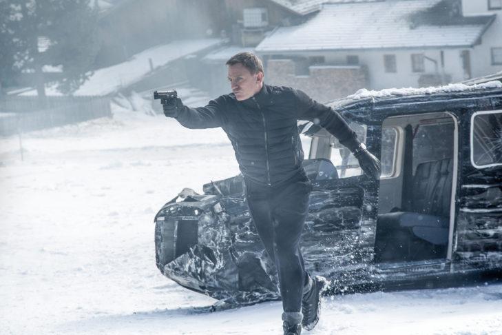 Actionszene mit James Bond (Daniel Craig) in Obertillach.