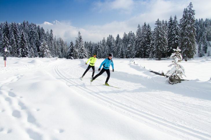 In der Olympiaregion Seefeld haben Langläufer viel Platz zum Skating.