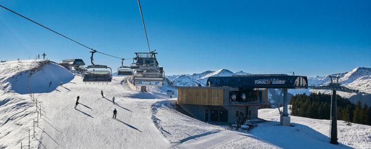 Die neue Bergstation der TirolS am Reiterkogel.