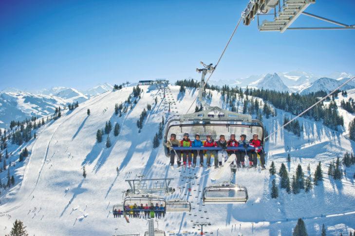 Was eine Aussicht aus dem Lift im Skigebiet Wilder Kaiser-Brixental!