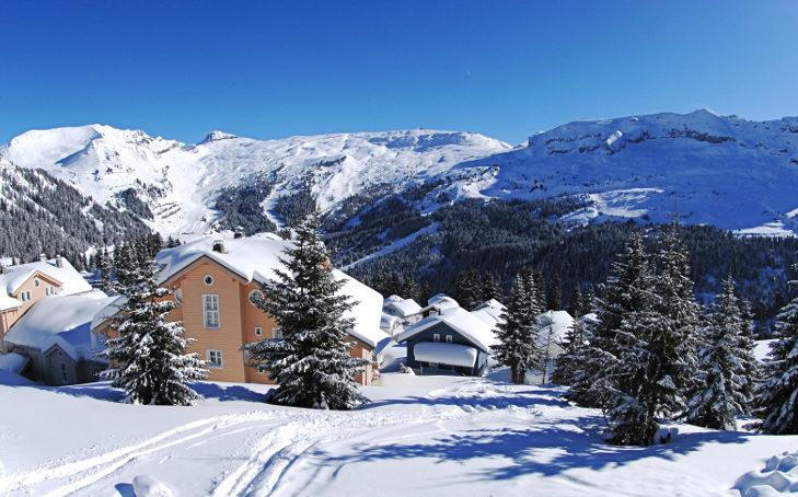 Riesiges Skigebiet und dennoch Idylle in Flaine.