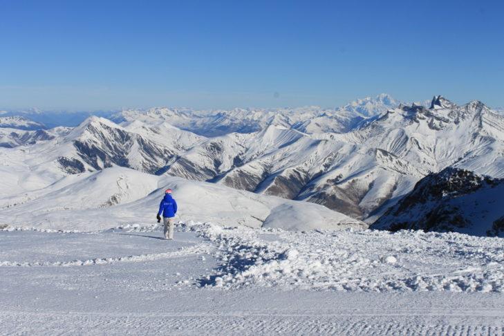 Der Panorama-View oberhalb von Les 2 Alpes ist einzigartig.