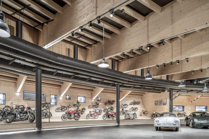 Dem Motorradmuseum wurde viel Platz eingeräumt.