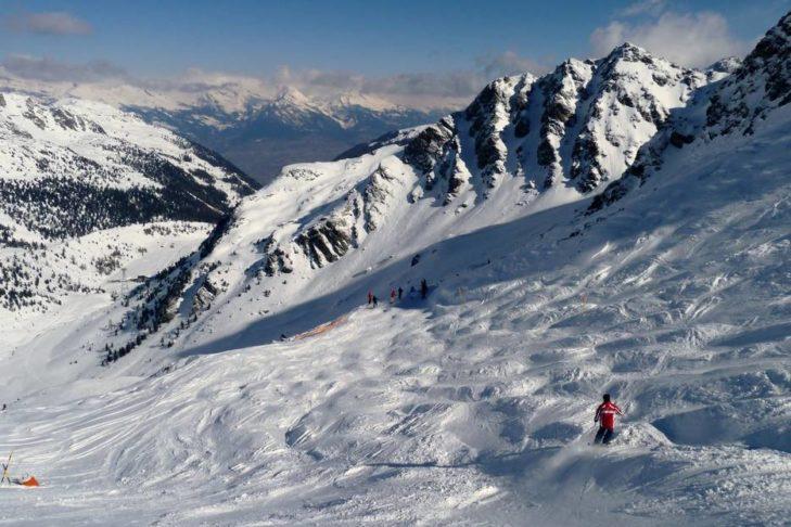 Die Buckelpiste Gentianes in den Schweizer 4 Vallées.
