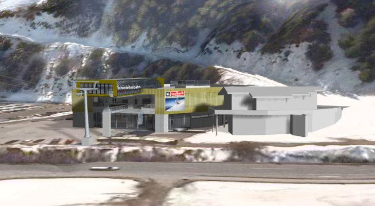 So sieht die Talstation der neuen Schönleitenbahn aus.