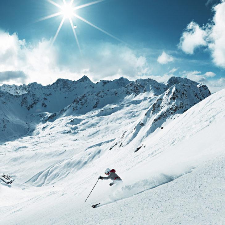 Solche Traumabfahrten wie hier am Weißhorn bei Arosa sollte man sich nicht entgehen lassen.