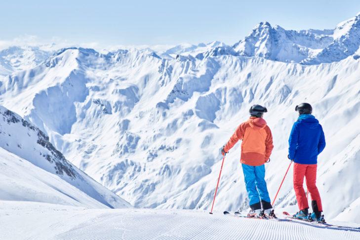 Skigebiete mit vielen flachen Pisten - wie hier in Serfaus-Fiss-Ladis - sind perfekt für Einsteiger.