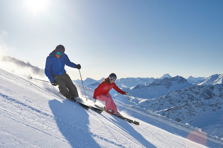 Skifahren_HeidiGigi_©Arosa Tourismus
