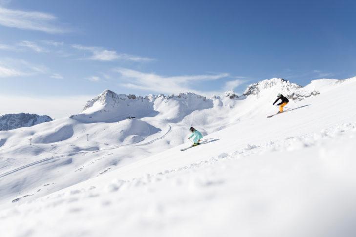 Skifahren auf der Zugspitze, ein Traum!