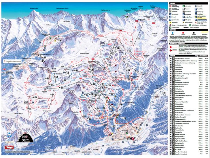 Silvretta Arena slope map