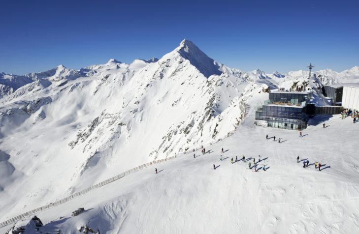 Am Gaislachkogl - hier die Bergstation - gibt es viele anspruchsvolle Abfahrten.