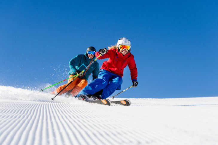 Skifahrer in Aktion. © Ola Matsson
