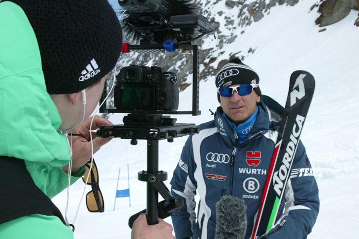 Auch DSV-Sportdirektor Wolfgang Maier war als Trainer mit dabei.